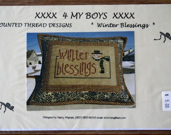 Winter Blessings Cross Stitch Pattern