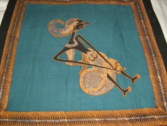 Indonesian Batik Fabric Art Panel