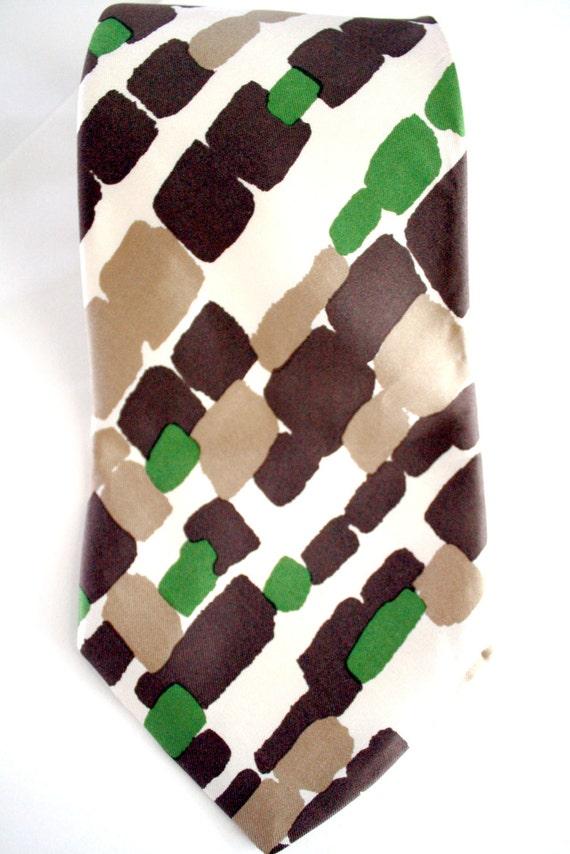 Camo Silk Tie Vintage