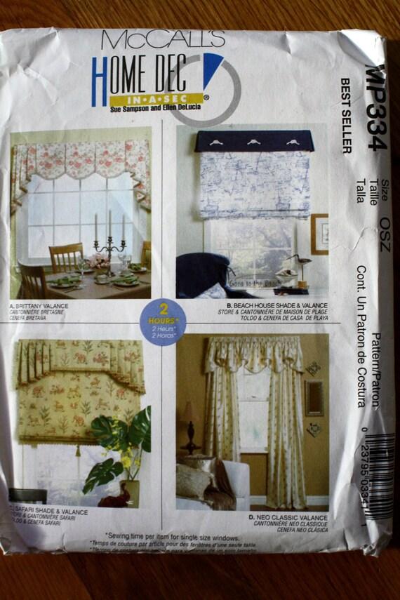 McCalls MP334 Valances and Shades Pattern Sewing