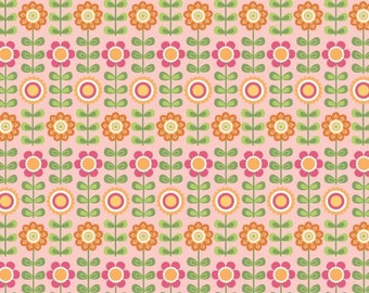 SUMMER SONG - Pink Summer Flowers by My Minds Eye for Riley Blake Fabrics