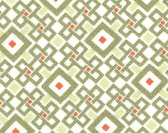 Good Fortune - Geometric Pagoda in Tea by Kate Spain for Moda Fabrics