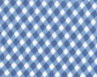 Peachy Keen - Flannel - Blue Gingham by Chloe's Closet for Moda Fabrics