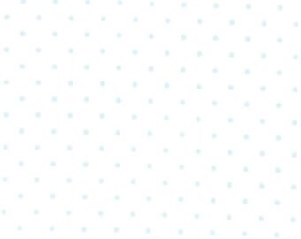 Moda Essential Dots - White Baby Blue from Moda Fabrics