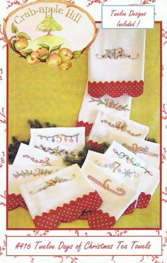 Twelve Days of Christmas Embroidery Pattern by Crabapple Hill