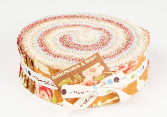 Butterscotch and Roses Honeybun by Fig Tree and Co for Moda Fabrics