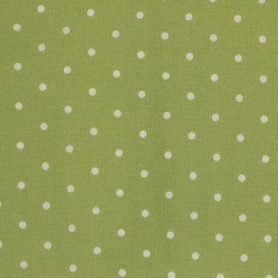 Barefoot Roses -  Dots - Green by Tanya Whelan for Freespirit Fabrics - Last Yard