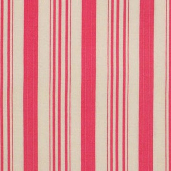 Barefoot Roses - Pink Ticking Stripe by Tanya Whelan for Freespirit Fabrics