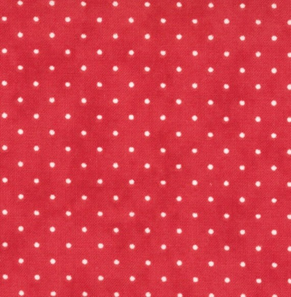 Moda Essential Dots - Christmas Red from Moda Fabrics