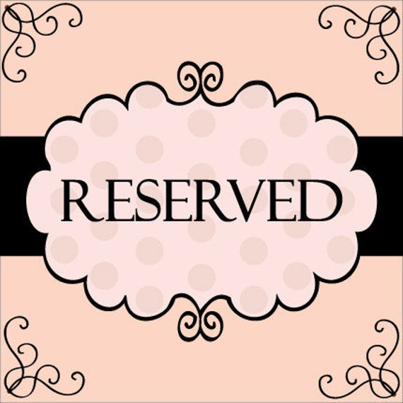 Reserved Listing for Jesse