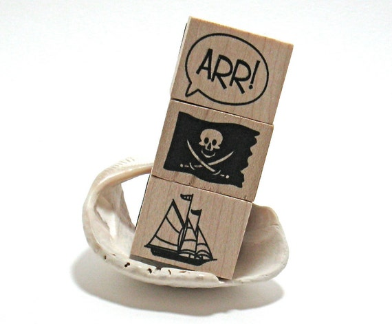 Pirate Stamps (Set of 4 & pad)