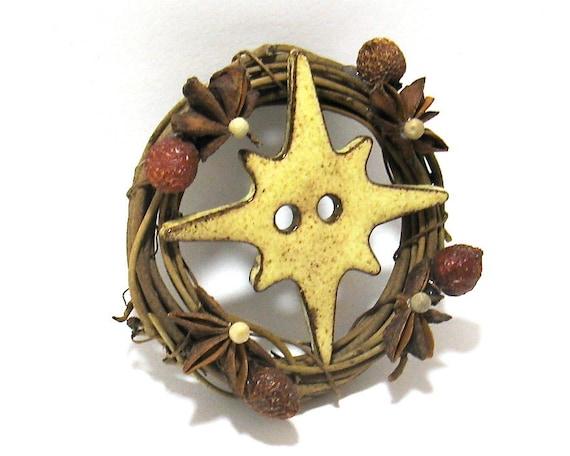 Nautical Compass Buttons (2 Hole Button Set) - Ceramic Focal Buttons