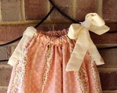 Shabby Chic- Pink Rose Pillowcase Dress... Sizes Newborn to 4T