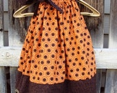 Rustic Orange and Brown Pillowcase Dress...Sizes Newborn- 4T