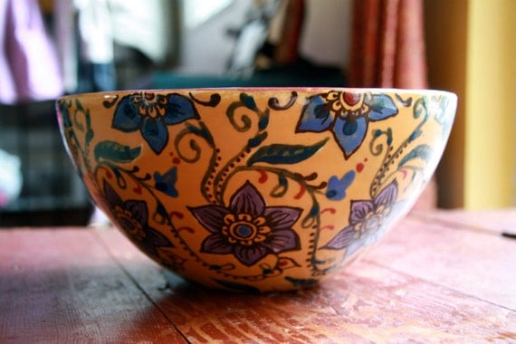 Hand Painted Gold Bowl