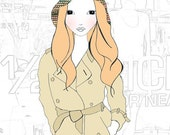 BERRI Fashion Girl - illustration print 8x10