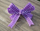 Small Purple Hair Bow