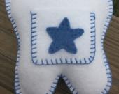 Blue Star Tooth Fairy Pillow