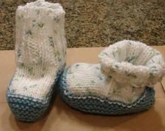 Hand kniited sock botties