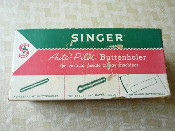 Singer Auto Pilot Buttonholer. Vintage