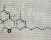 THC Molecule Pipe Bag