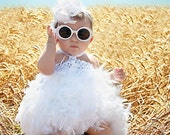 Danity Baby White Feather Skirt and Crochet Top dress