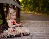 Fall Princess Dress Chocolate Ruffles