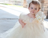 Sweet Ivory Bliss Girls Tutu Dress