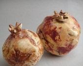 One of a KInd Ceramic Pomegranate