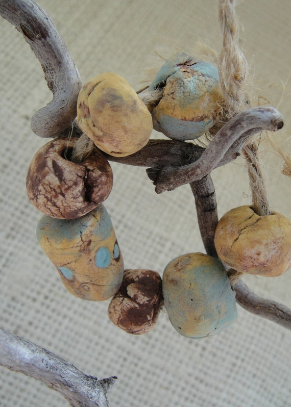 Handcrafted Beads - Earthy Ceramic Bead Set