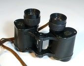 vintage BINOCULARS TOKYO FIELD - japanese magna 8x30 with original velvet lined leather case - so classic