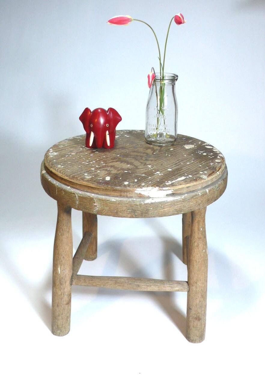 Antique Industrial Wooden Peg Leg Milking By Sugarcubevintage