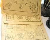 Vintage French embroidery pattern album ornamental alphabet