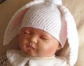 Crochet pattern for floppy bunny ears hat in 4 sizes - INSTANT DOWNLOAD .pdf