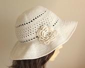 Crochet pattern to make a Sun Hat - INSTANT DOWNLOAD .pdf