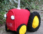 Crochet pattern for Soft Toy Tractor - INSTANT DOWNLOAD pdf