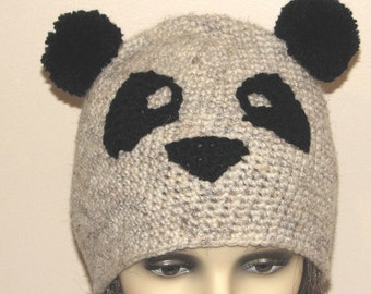 Crochet pattern for Panda hat - INSTANT DOWNLOAD .pdf