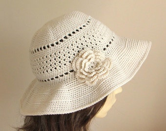 Crochet pattern to make a Sun Hat - INSTANT DOWNLOAD .pdf