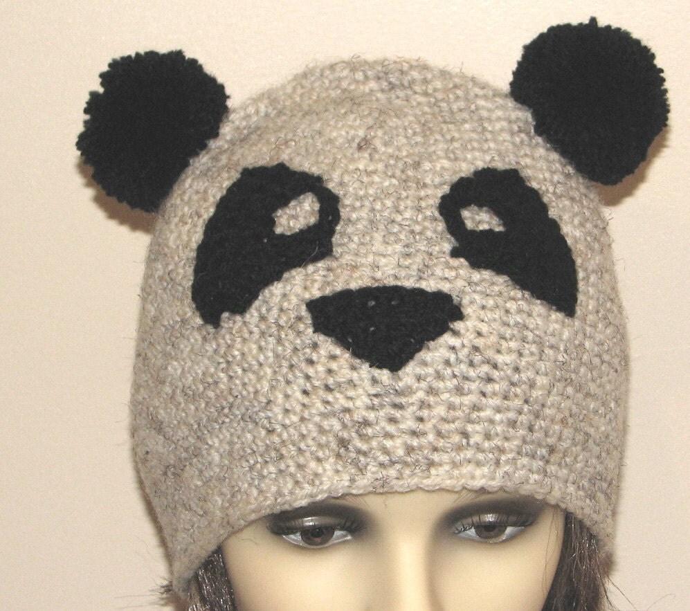 Crochet Pattern Panda Hat : Crochet pattern for Panda hat INSTANT DOWNLOAD .pdf