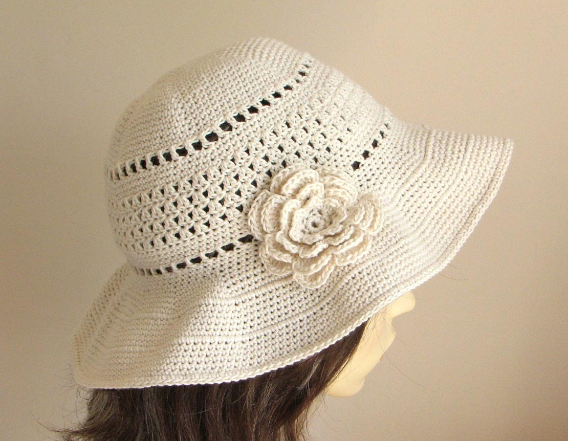 Crochet pattern to make a Sun Hat INSTANT DOWNLOAD .pdf