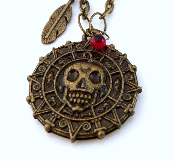 The Cursed Pirate Doubloon Necklace - Pirates of the Caribbean Necklace