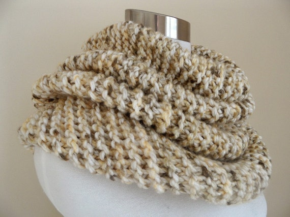 The Super Wheat Chunky Knit Cowl