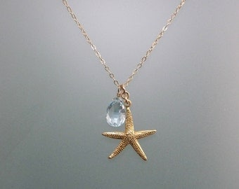 Seaside Starfish with Blue Topaz