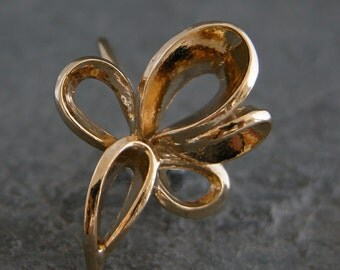 Gold Ring, Flower Gold Ring, Wedding Ring, Floral Gold Ring, Flower Ring, Modern Classic Ring, Urban Ring, Feminine Ring