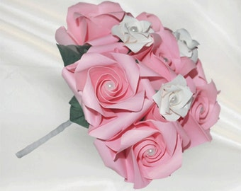 Origami Flowergirl Pink Roses Wedding Bouquet