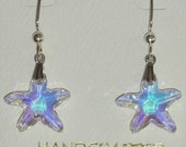 Aurora Borealis Crystal Starfish Earrings