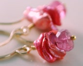 Reserved - Pink Tourmaline Earring - Replacement