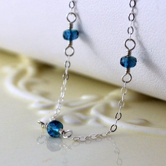 Adjustable Silver Anklet London Blue Topaz Ankle By