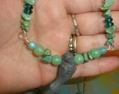 Sea Green  Manatee Necklace
