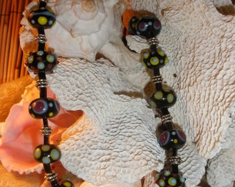 An Evening Out Lampwork Glass Bead Necklace